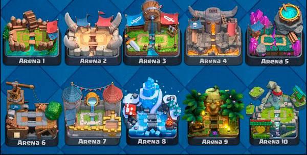 clash royale все арены список