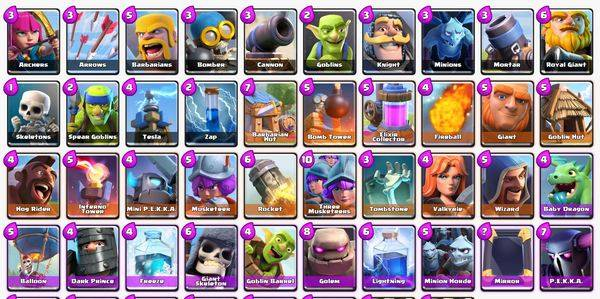 карты clash royale