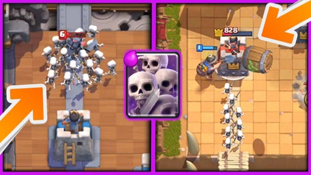 Армия скелетов clash royale