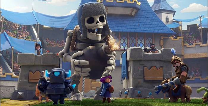 гигантский скелет clash royale
