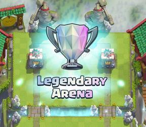 10 арена clash royale легендарная