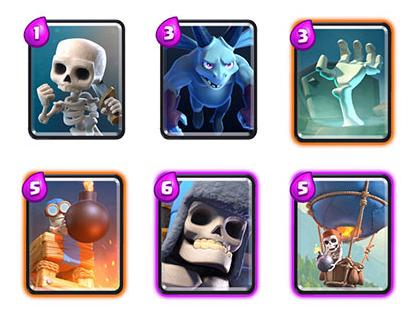 карты для 2 арены в clash royale