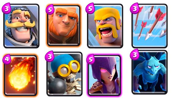 карты 3 арены clash royale