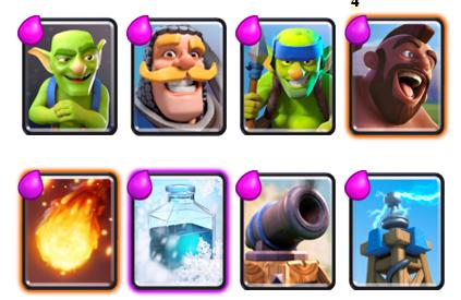 карты для 4 арены в clash royale