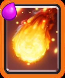 огненный шар clash royale